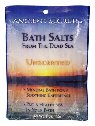 DROPPED: Ancient Secrets - Aromatherapy Dead Sea Mineral Bath Unscented - 4 oz. CLEARANCE PRICED