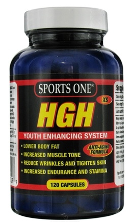 DROPPED: Sports One - HGH-XS Youth Enhancing System - 120 Capsules
