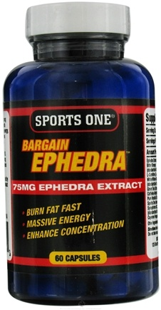 DROPPED: Sports One - Bargain Ephedra 75 mg. - 60 Capsules UNPUBLISHED