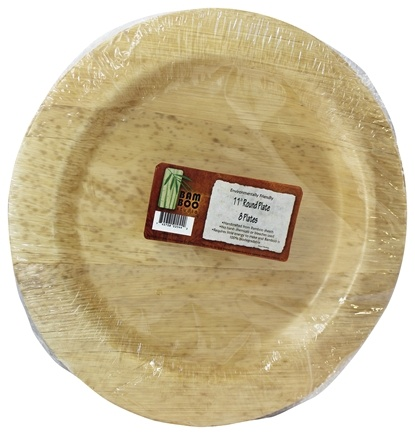 DROPPED: Bamboo Studio - Bamboo Dinnerware Round Plate Reusable Disposable 11.5 inches - 8 Pack