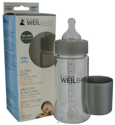 DROPPED: Weil Baby - Tritan Nurser Bottle With AirWave Venting System & Stage 1 Nipple BPA Free - 9 oz. CLEARANCE PRICED