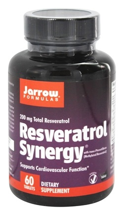 Jarrow Formulas - Resveratrol Synergy 200 mg. - 60 Tablet(s) with Pterostilbene