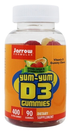 Jarrow Formulas - Yum-Yum D3 Gummies Orange Flavor 400 IU - 90 Chews