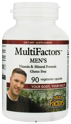 DROPPED: Natural Factors - MultiFactors Men's - 90 Vegetarian Capsules CLEARANCE PRICED