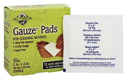 DROPPED: All Terrain - Gauze Pads 2 in x 2 in - 10 Count