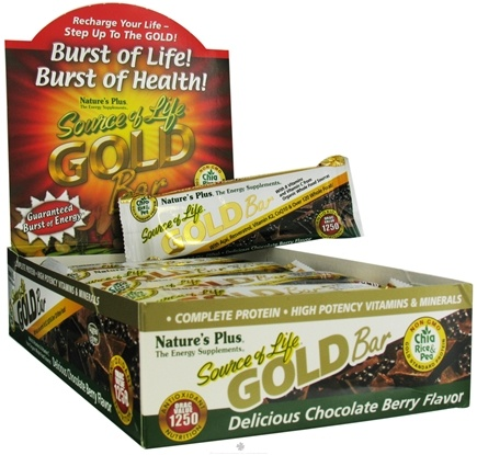 DROPPED: Nature's Plus - Source Of Life Gold Bar Delicious Chocolate Berry Flavor - 1.7 oz.
