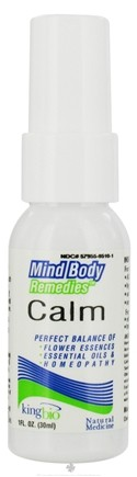 DROPPED: King Bio - Mind Body Remedies Calm - 1 oz. CLEARANCE PRICED