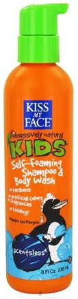 DROPPED: Kiss My Face - Kids Self-Foaming Shampoo & Body Wash Scentsless - 8 oz. CLEARANCE PRICED