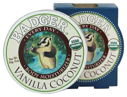DROPPED: Badger - Every Day Body Moisturizer Vanilla Coconut - 2 oz.