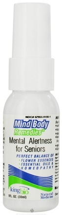 DROPPED: King Bio - Mind Body Remedies Mental Alertness For Seniors - 1 oz. CLEARANCE PRICED
