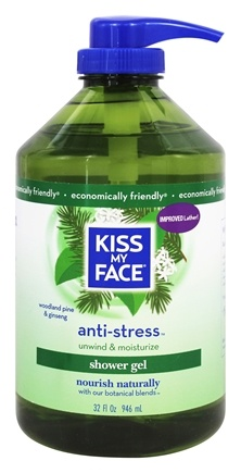 Kiss My Face - Shower Gel Relaxing Anti-Stress Woodland Pine & Ginseng - 32 oz.