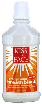 DROPPED: Kiss My Face - Breath Blast Mouthrinse Orange Mint - 16 oz. CLEARANCE PRICED