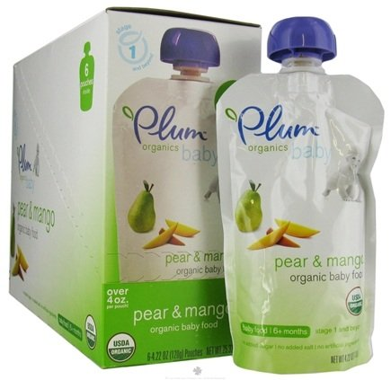 DROPPED: Plum Organics - Organic Baby Food Pear & Mango 6+ months - 4 oz.
