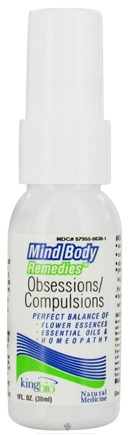 DROPPED: King Bio - Mind Body Remedies Obsessions/Compulsions - 1 oz. CLEARANCE PRICED