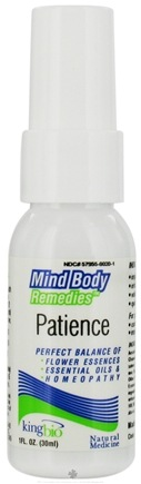 DROPPED: King Bio - Mind Body Remedies Patience - 1 oz. CLEARANCE PRICED