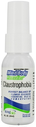 DROPPED: King Bio - Mind Body Remedies Claustrophobia - 1 oz. CLEARANCE PRICED