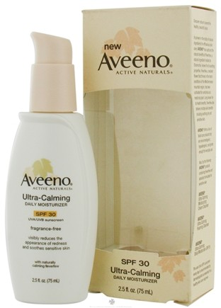 DROPPED: Aveeno - Active Naturals Ultra-Calming Daily Moisturizer Fragrance Free 30 SPF - 2.5 oz. CLEARANCE PRICED