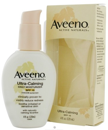 DROPPED: Aveeno - Active Naturals Ultra-Calming Daily Moisturizer SPF15 Fragrance  Free - 4 oz. CLEARANCE PRICED