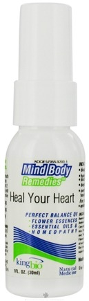 DROPPED: King Bio - Mind Body Remedies Heal Your Heart - 1 oz. CLEARANCE PRICED