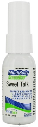 DROPPED: King Bio - Mind Body Remedies Sweet Talk - 1 oz. CLEARANCE PRICED