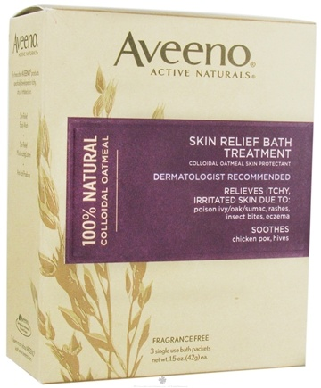 DROPPED: Aveeno - Active Naturals Skin Relief Bath Treatment 3 x 1.5 oz. Single Packets Fragrance Free - CLEARANCE PRICED