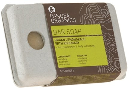 DROPPED: Pangea Organics - Bar Soap Rejuvenating & Refreshing Indian Lemongrass With Rosemary - 3.75 oz. CLEARANCE PRICED