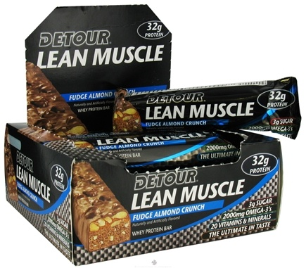 DROPPED: Forward Foods - Detour Lean Muscle Bar Fudge Almond Crunch - 3.2 oz. CLEARANCE PRICED