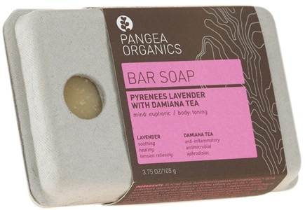 DROPPED: Pangea Organics - Bar Soap Euphoric & Toning Pyrenees Lavender With Damiana Tea - 3.75 oz.