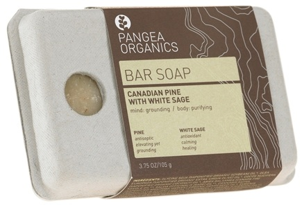 DROPPED: Pangea Organics - Bar Soap Grounding & Purifying Canadian Pine With White Sage - 3.75 oz.