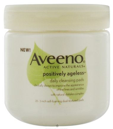 DROPPED: Aveeno - Active Naturals Positively Ageless Daily Cleansing Pads - 28 Pad(s)