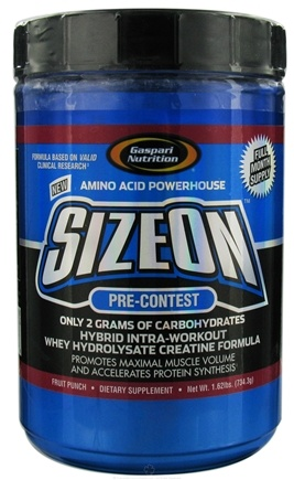 DROPPED: Gaspari Nutrition - SizeOn Pre-Contest Fruit Punch - 1.62 lbs. CLEARANCE PRICED