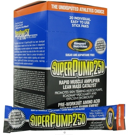 DROPPED: Gaspari Nutrition - SuperPump 250 Rapid Muscle Amplifier 20x20 Gram Packets Refreshing Orange - 14 oz.
