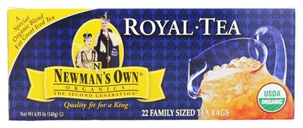 Newman's Own Organics - Organic Royal Black Tea Family Sized - 22 Tea Bags