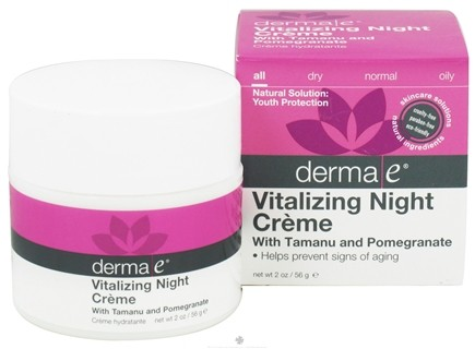 DROPPED: Derma-E - Vitalizing Night Creme With Tamanu & Pomegranate - 2 oz. (formerly Tropical Solutions Anti-Aging Night Creme)
