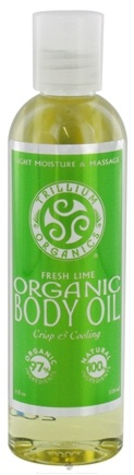 DROPPED: Trillium Organics - Organic Body Oil Fresh Lime - 4 oz.