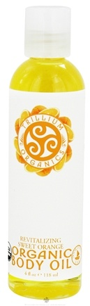 DROPPED: Trillium Organics - Organic Body Oil Sweet Clementine - 4 oz. CLEARANCE PRICED