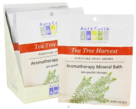 DROPPED: Aura Cacia - Aromatherapy Mineral Bath Tea Tree Harvest - 2.5 oz. CLEARANCE PRICED