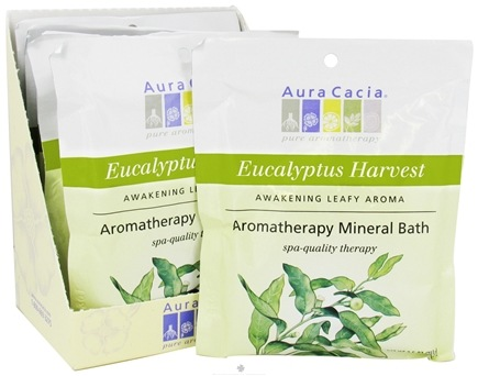 DROPPED: Aura Cacia - Aromatherapy Mineral Bath Eucalyptus Harvest - 2.5 oz. CLEARANCE PRICED