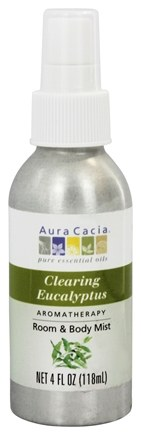 Aura Cacia - Aromatherapy Mist For Room and Body Awakening Eucalyptus Harvest - 4 oz.