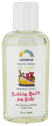 DROPPED: Rainbow Research - Organic Herbal Bubble Bath For Kids Travel Size Original - 2 oz. CLEARANCE PRICED
