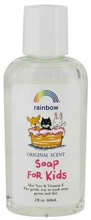 DROPPED: Rainbow Research - Liquid Soap For Kids Aloe Vera & Vitamin E Travel Size Original - 2 oz. CLEARANCE PRICED