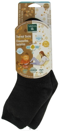 DROPPED: Earth Therapeutics - Organic Thermal Socks with Shea Butter Moisture Sizes 5-11 Black - CLEARANCE PRICED