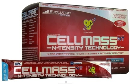 DROPPED: BSN - Cellmass NT N-Tensity Ultra Post Training & Recovery Activator 30 Stick Packs Blue Raz - 22.8 oz. CLEARANCE PRICED