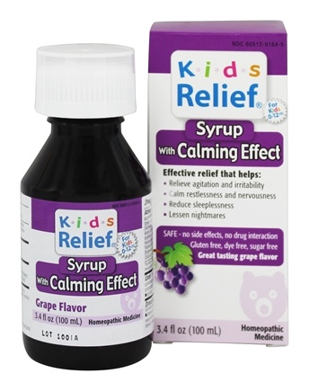 Homeolab USA - Kids Relief Syrup with Calming Effect Grape Flavor - 3.4 oz.