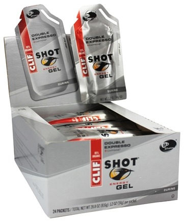 Clif Bar - Shot Turbo Energy Gel with 100mg Caffeine Double Expresso - 1.2 oz.