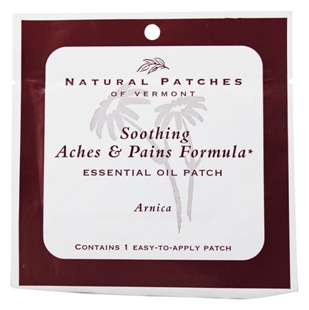 Natural Patches of Vermont - Soothing Aches & Pains Formula Essential Oil Patch Arnica - Formerly Naturopatch