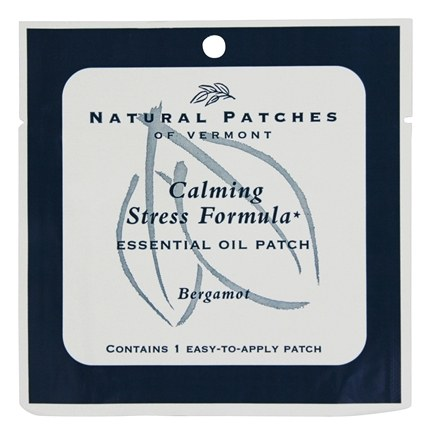 Natural Patches of Vermont - Calming Stress Formula Essential Oil Body Patch Bergamot - 1 Patch(es)