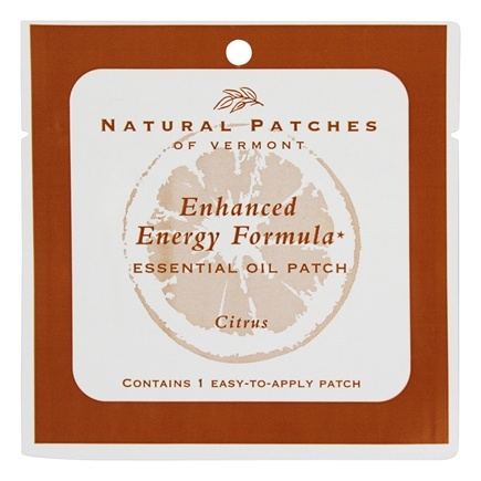 DROPPED: Natural Patches of Vermont - Enhanced Energy Formula Essential Oil Body Patch Citrus - 1 Patch(es)