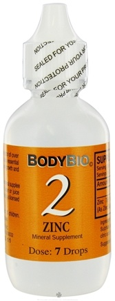 DROPPED: Body Bio - Liquid Minerals Zinc 2 - 2 oz. CLEARANCE PRICED