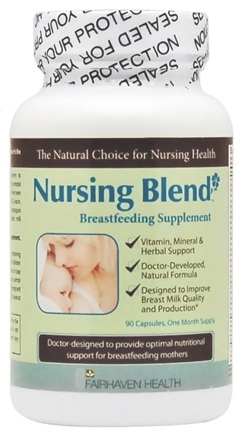 DROPPED: Fairhaven Health - Nursing Blend Breastfeeding Supplement - 90 Capsules